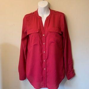 Calvin Klein Button up career blouse